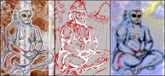 Hanuman - FF triptych