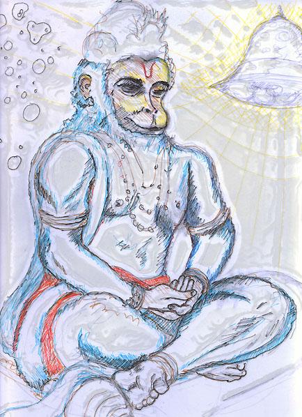 Hanuman et Adamski