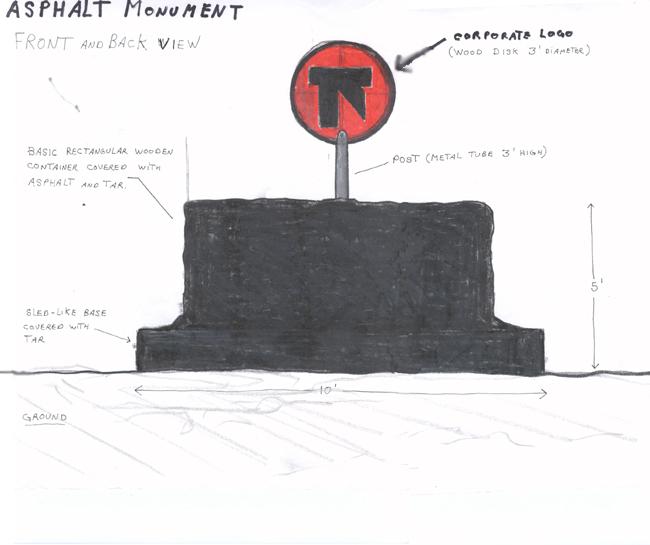 Asphalt monument v3 (study)