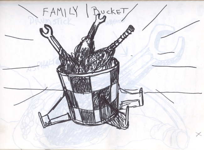Kentucky Fried Asphalt Family Bucket (study)