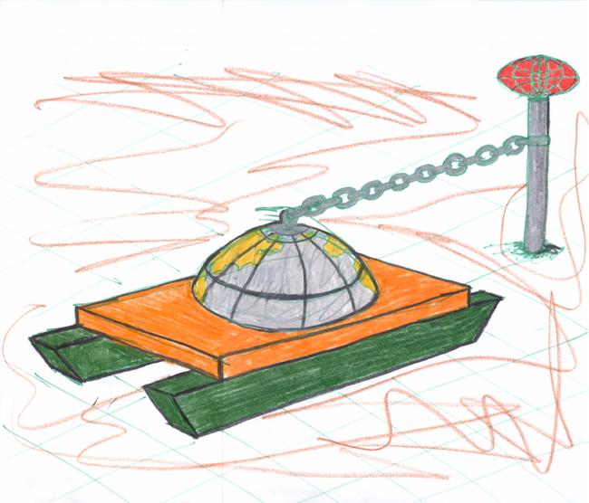 World sled monument