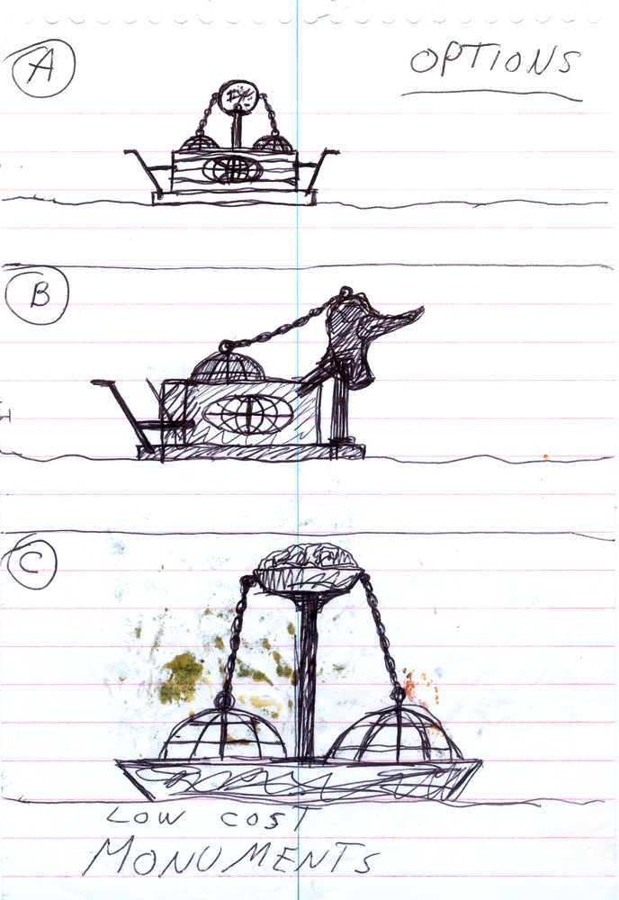 Monument options - concept sketch